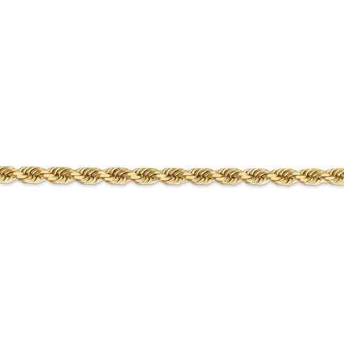14k 4.5mm D/C Rope with Lobster Clasp Chain