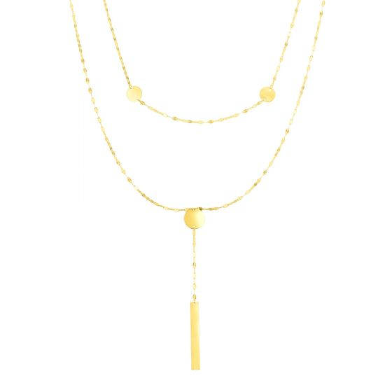 14kt Gold 17'' Yellow Finish Necklace with Spring Ring Clasp