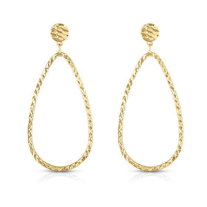 14kt Gold Yellow Finish Earring with Push Back Clasp
