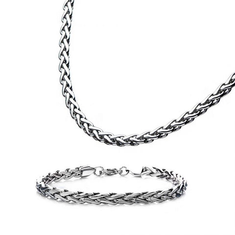 Stainless Steel 6mm Spiga Bracelet