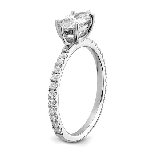 14k White Gold Marquise Semi-Mount Engagement Ring
