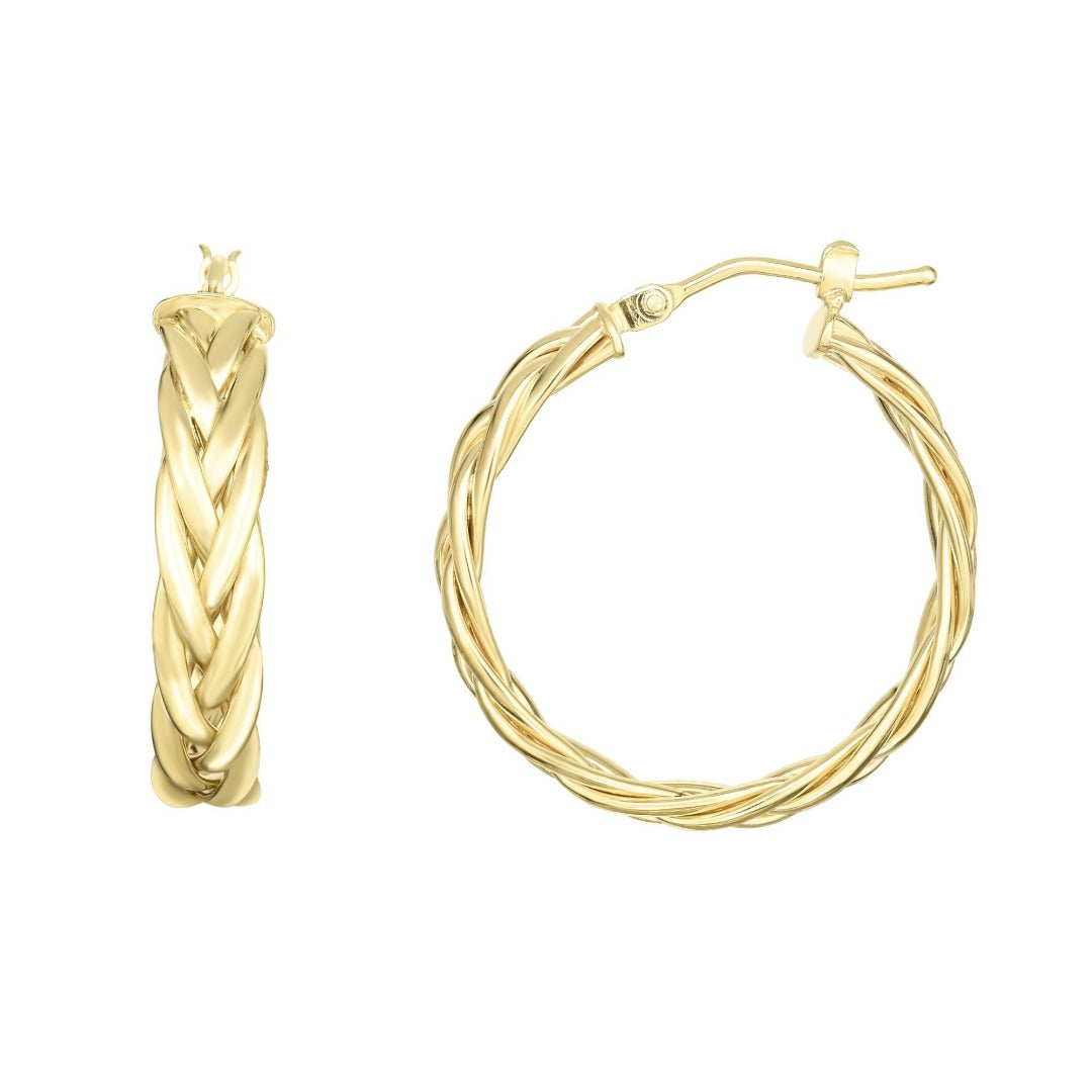 14kt Gold Yellow Finish Earring