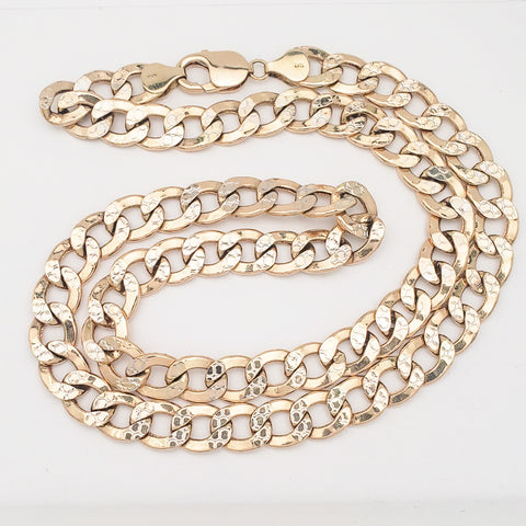 14K Yellow Gold Curb Chain - 22""