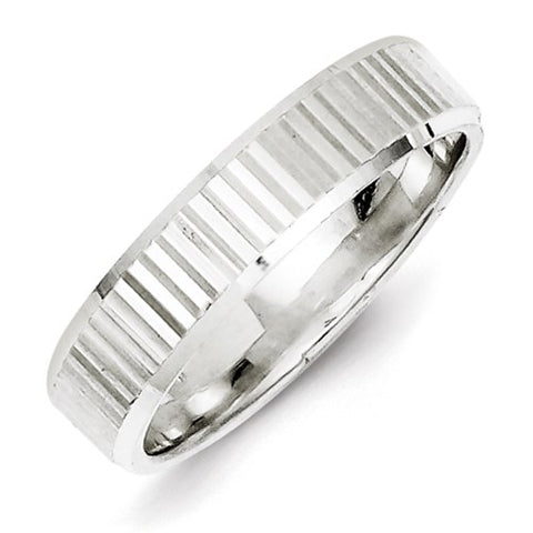 Sterling Silver 5mm Diamond-Cut Band