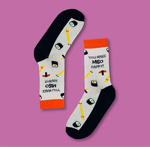 You Make Miso Happy Socks | Ruby and J