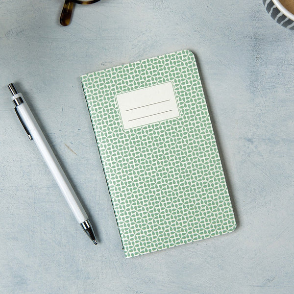 Small Green Abstract Notebook | Ruby and J