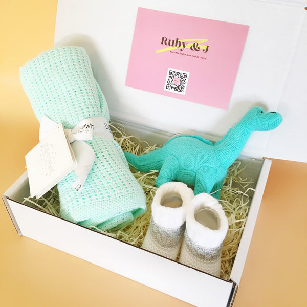 New Baby Bundle: Blanket & Booties | Ruby and J