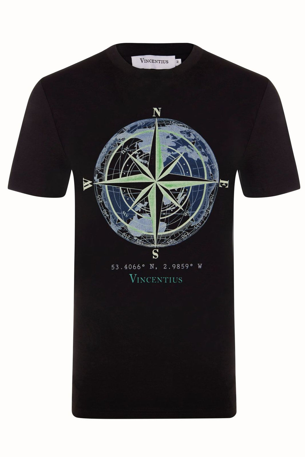Luxe Compass Black T-Shirt