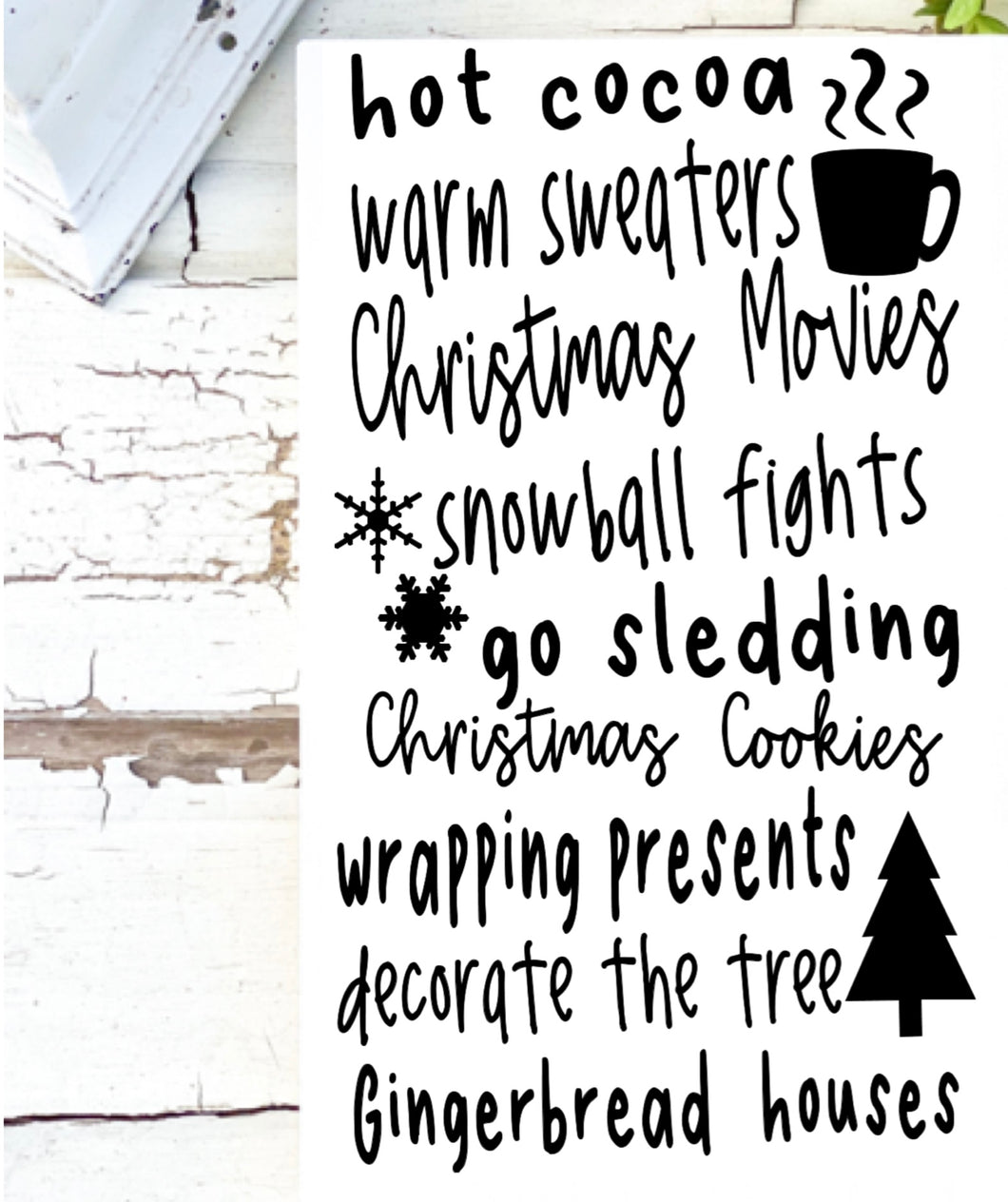 All things Christmas Sign