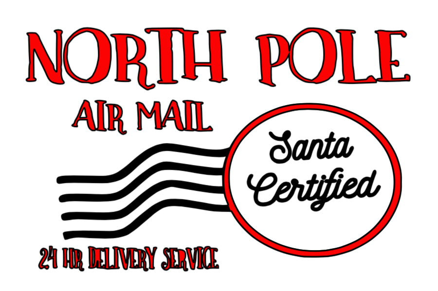 North Pole Air Mail Sign