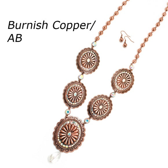 Copper Concho Necklace Set