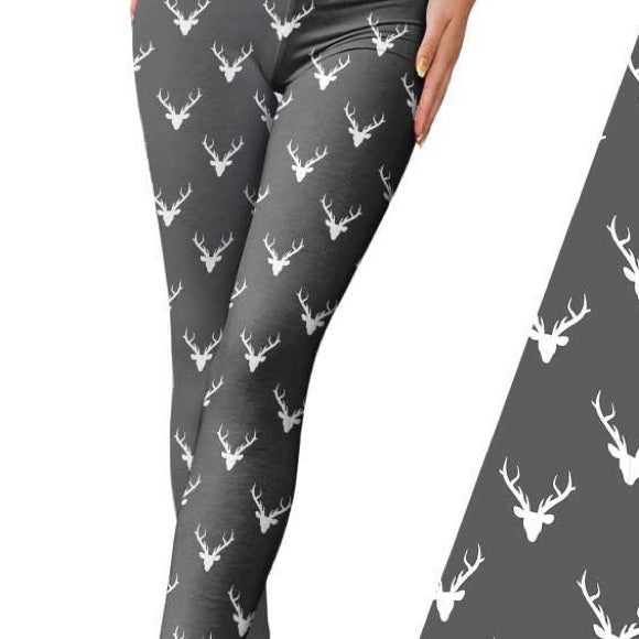 Gray Deer Leggings