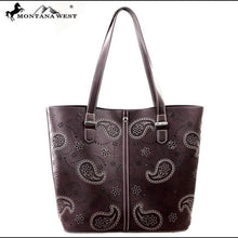Load image into Gallery viewer, Montana West Paisley Handbag (Chocolate)