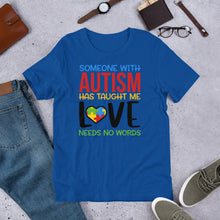 Load image into Gallery viewer, Autism taught me love needs no words