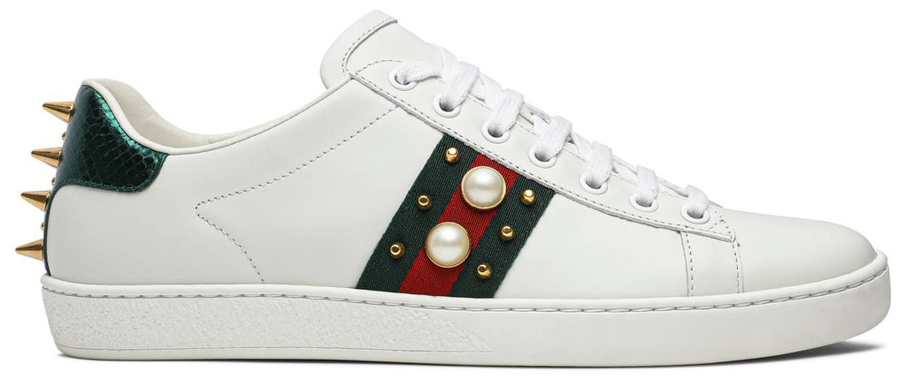 Gucci Wmns Ace Studded 'White'