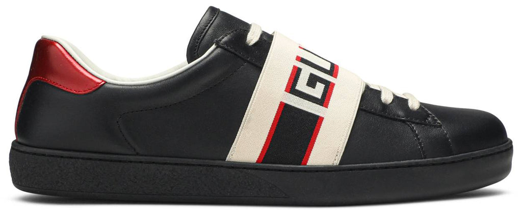 Gucci Ace Stripe Leather 'Black'
