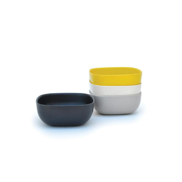 Bamboo Small Bowl Set Black / Stone / Off-White / Lemon