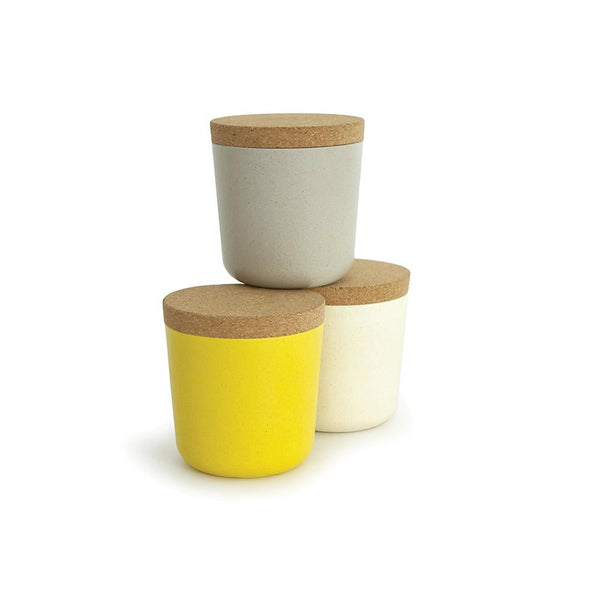 Bamboo Small Storage Jar Set