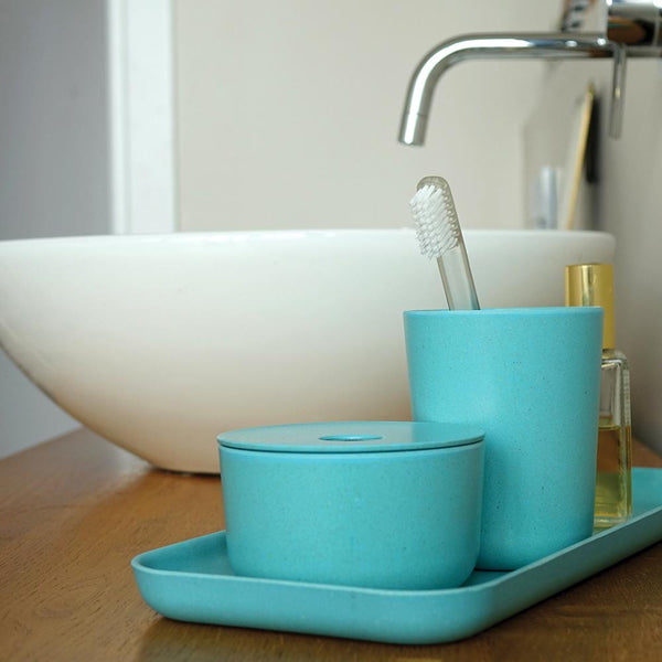 Bamboo Toothbrush Holder / Bathroom Cup - Lagoon