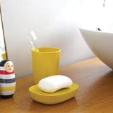 Bamboo Toothbrush Holder / Bathroom Cup - Lemon