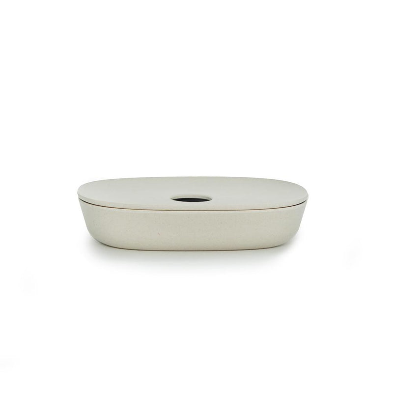 Bamboo Soap Dish Off-White
