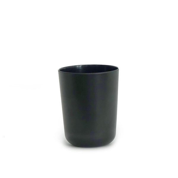 Bamboo Toothbrush Holder / Bathroom Cup - Black