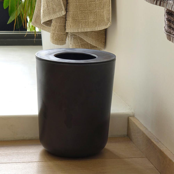 Bamboo Bathroom Bin - Black