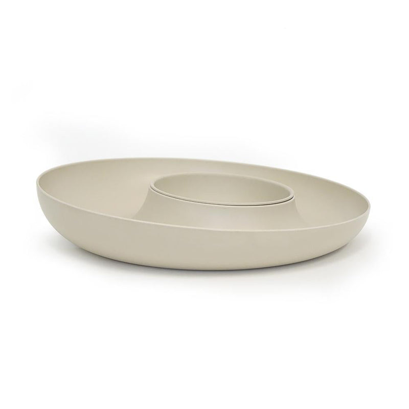 Bamboo Chip & Dip Set - Stone
