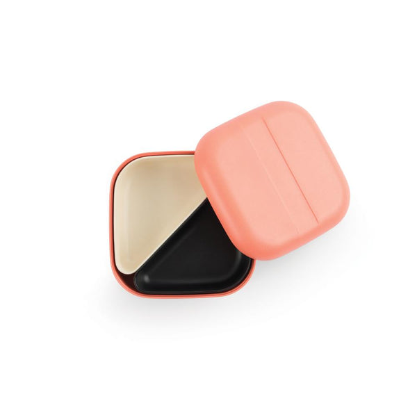 Bamboo Square Bento Lunch Box - Coral