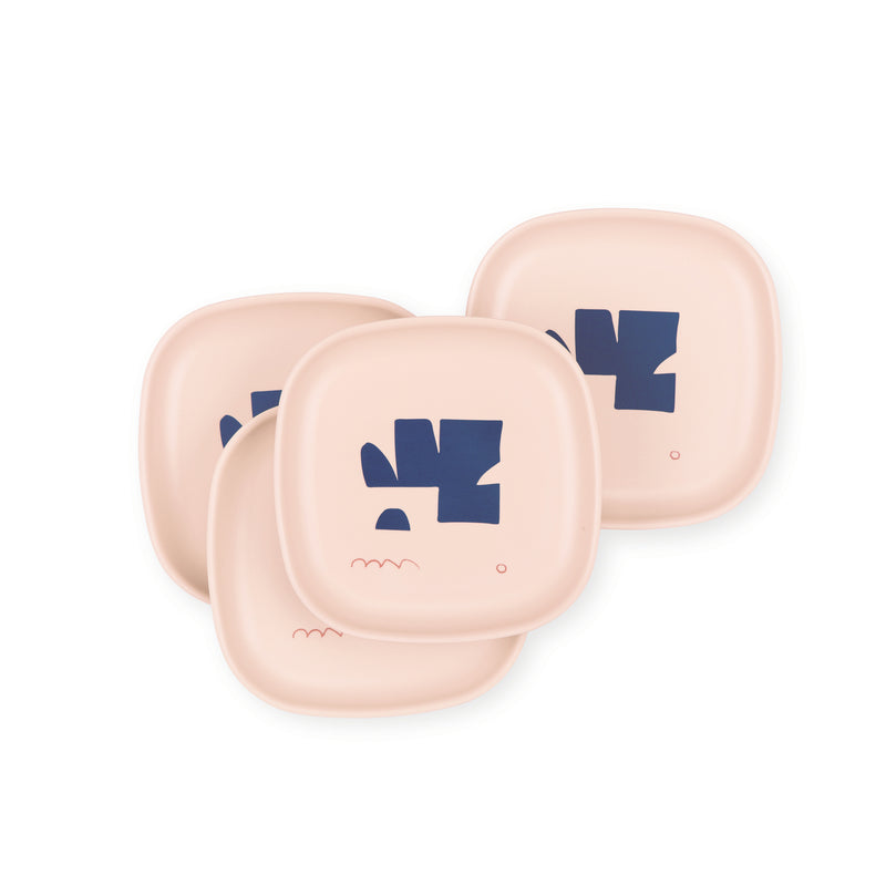 Bamboo Illustrated Side Plate Set - Blue Series