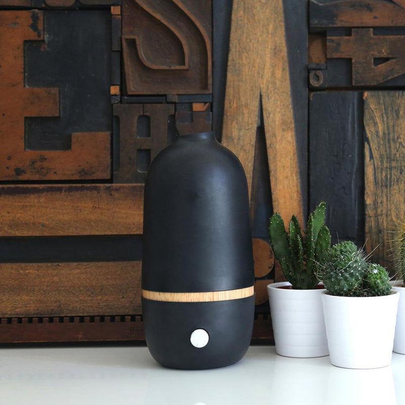 ONA Aromatherapy Nebulizing Essential Oil Diffuser Black