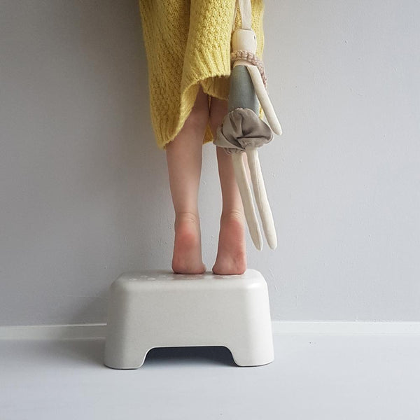 Bamboo Kids Step Stool - Off White