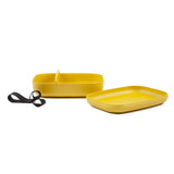 Bamboo Rectangular Bento Lunch Box  - Lemon