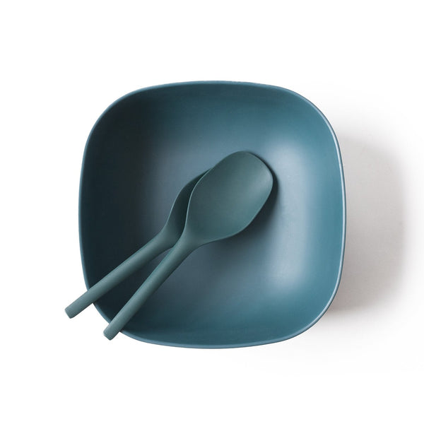Bamboo Large Salad Bowl - Blue Abyss