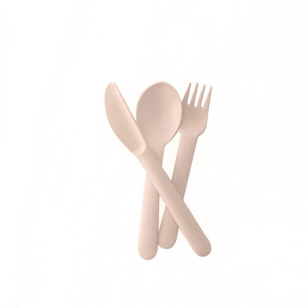 Bamboo Kids Cutlery Set - Blush
