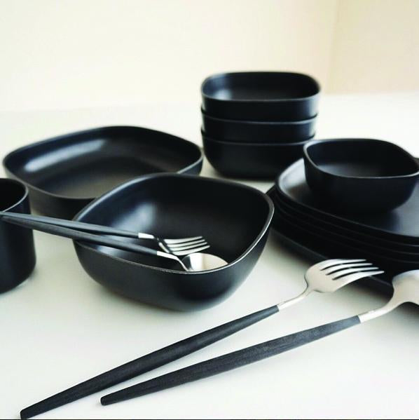 Bamboo Cereal Bowl - 4 Piece Set - Black