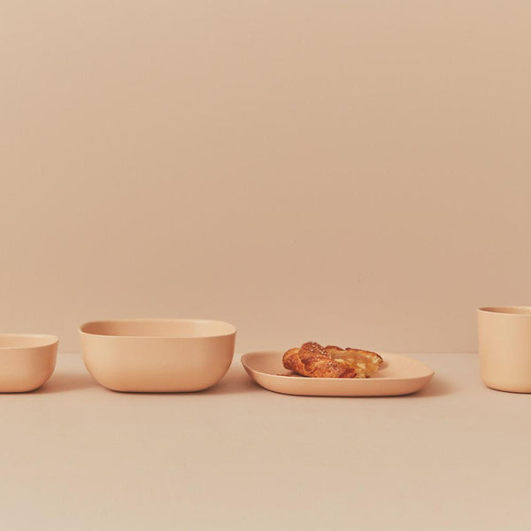 Bamboo Cereal Bowl - 4 Piece Set - Blush