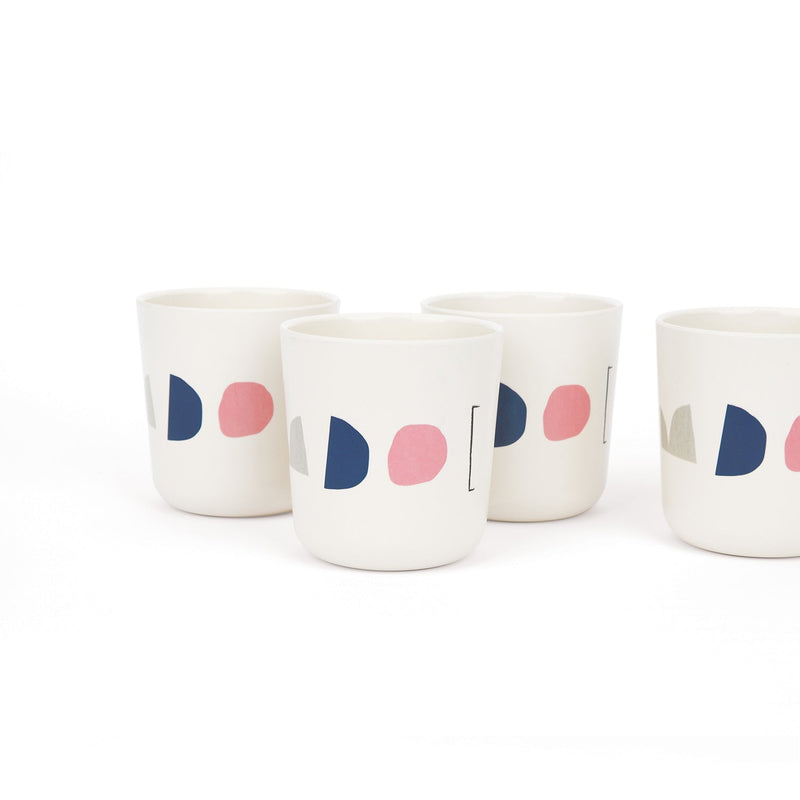Bamboo Illustrated Medium Cup Set - Color Series