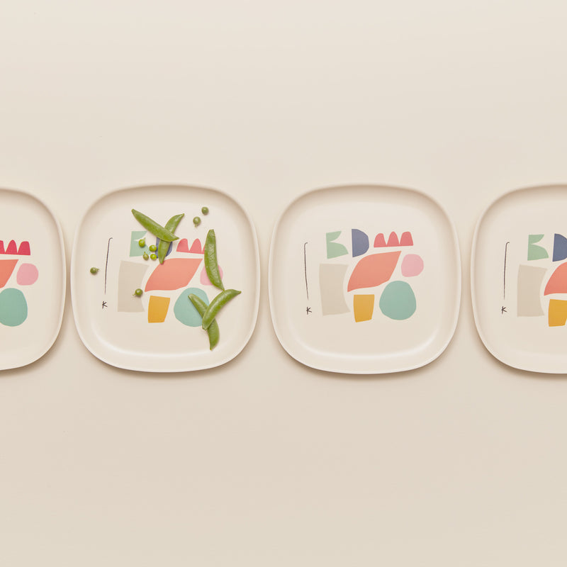 Bamboo Illustrated Medium Plate Set - Color Series