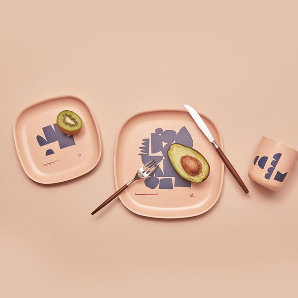 Bamboo Illustrated Side Plate Set