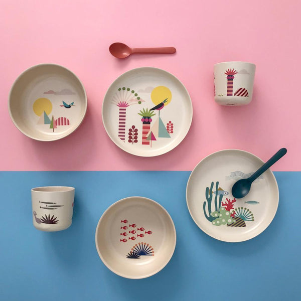Illustrated Bamboo Kid Set