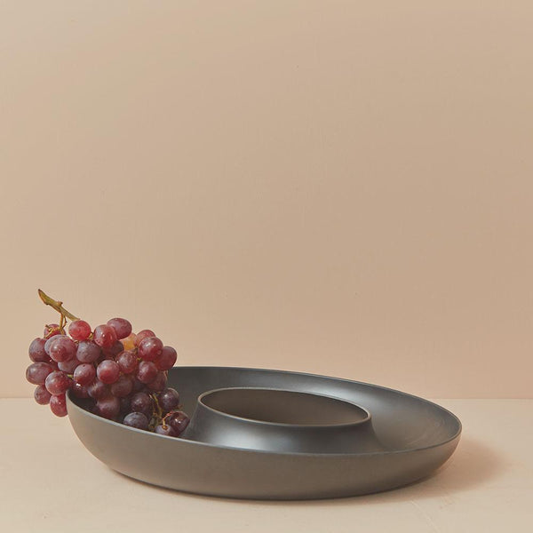 Bamboo Fruit Bowl - Black