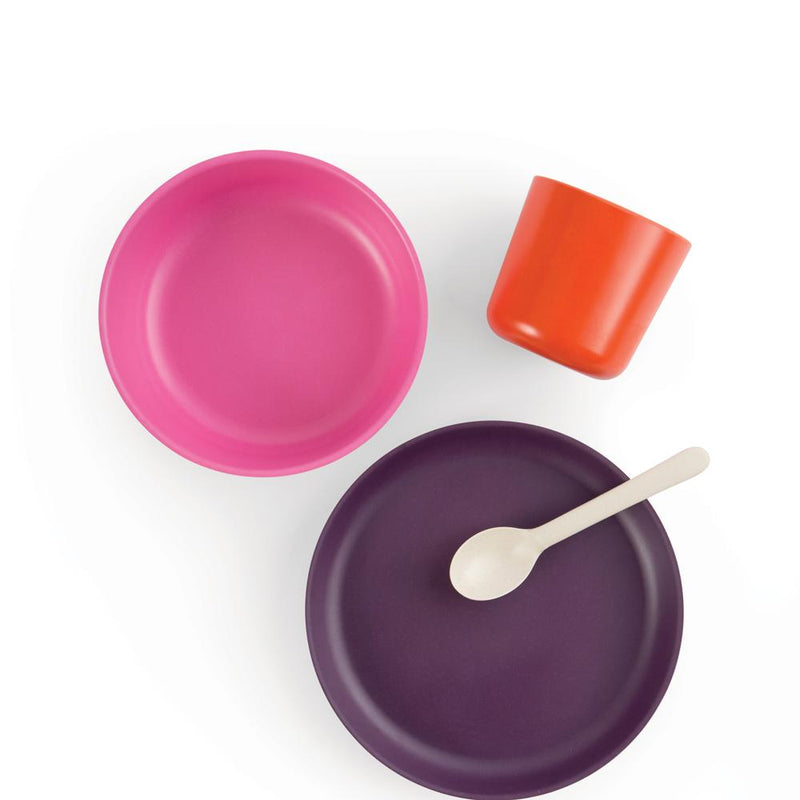 Bamboo Kids Dinner Set - Ume
