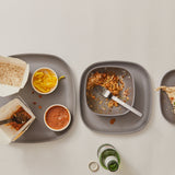 Bamboo Medium Plate - 4 Piece Set - Smoke