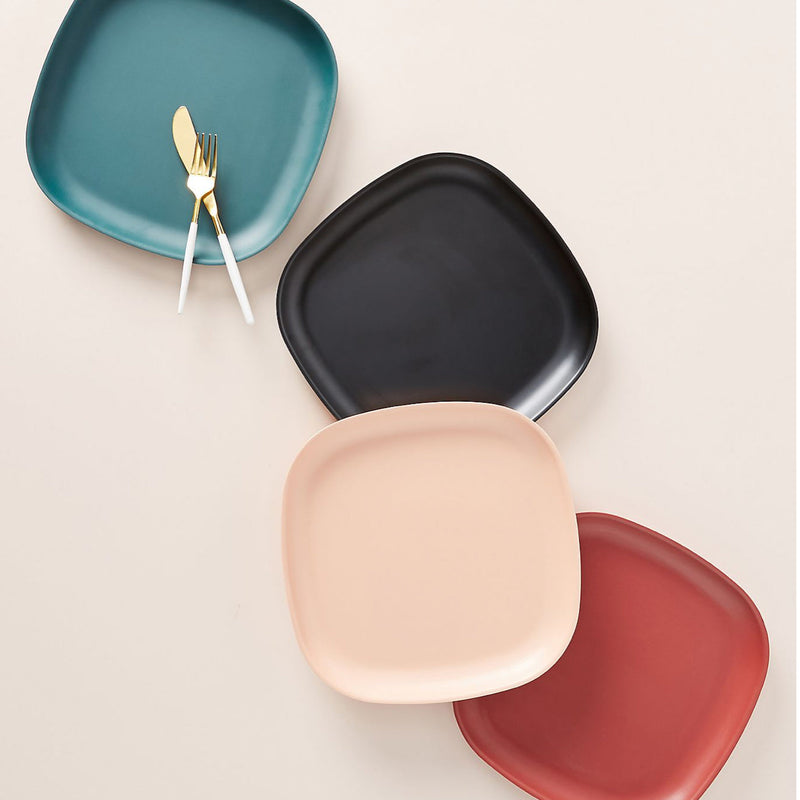 Bamboo Side Plate - 4 Piece Set - Blue Abyss