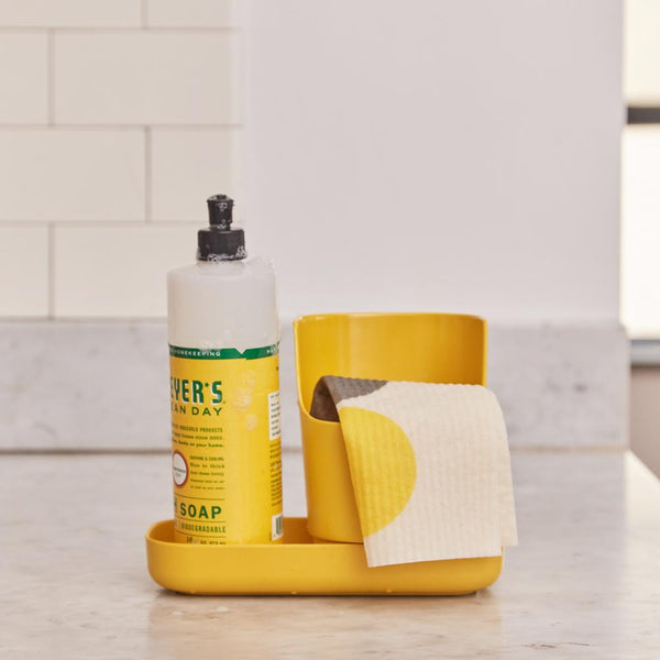 Bamboo Sink Caddy Organizer - Lemon
