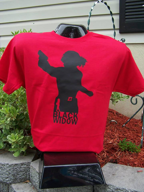 Black Widow Silhouette T-Shirt