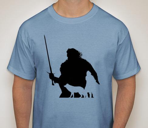 Game of Thrones- Jon Snow Silhouette T-Shirt