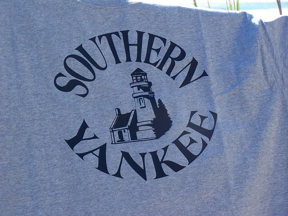 Southern Yankee Round Logo with Lighthouse.