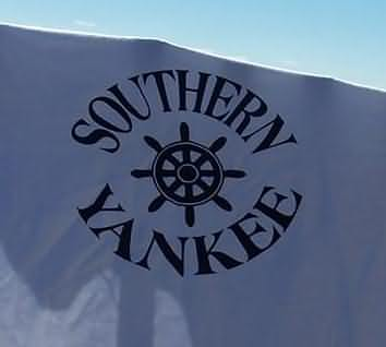 Southern Yankee Round Logo with Ship's Wheel